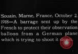 Image of anti-aircraft bursts Souain Maine France USA, 1918, second 1 stock footage video 65675051064