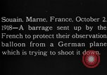 Image of anti-aircraft bursts Souain Maine France USA, 1918, second 2 stock footage video 65675051064