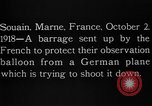 Image of anti-aircraft bursts Souain Maine France USA, 1918, second 3 stock footage video 65675051064