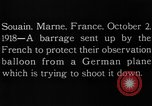 Image of anti-aircraft bursts Souain Maine France USA, 1918, second 5 stock footage video 65675051064