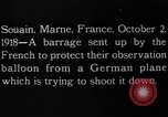 Image of anti-aircraft bursts Souain Maine France USA, 1918, second 6 stock footage video 65675051064