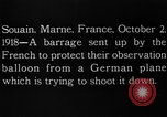 Image of anti-aircraft bursts Souain Maine France USA, 1918, second 7 stock footage video 65675051064