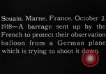 Image of anti-aircraft bursts Souain Maine France USA, 1918, second 8 stock footage video 65675051064