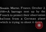 Image of anti-aircraft bursts Souain Maine France USA, 1918, second 10 stock footage video 65675051064
