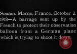 Image of anti-aircraft bursts Souain Maine France USA, 1918, second 11 stock footage video 65675051064