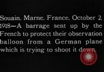 Image of anti-aircraft bursts Souain Maine France USA, 1918, second 12 stock footage video 65675051064