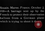 Image of anti-aircraft bursts Souain Maine France USA, 1918, second 13 stock footage video 65675051064