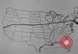 Image of animated map United States USA, 1924, second 15 stock footage video 65675051107