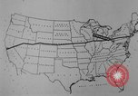 Image of animated map United States USA, 1924, second 20 stock footage video 65675051107