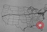 Image of animated map United States USA, 1924, second 23 stock footage video 65675051107