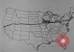Image of animated map United States USA, 1924, second 36 stock footage video 65675051107