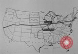 Image of animated map United States USA, 1924, second 43 stock footage video 65675051107
