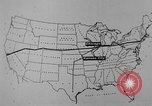 Image of animated map United States USA, 1924, second 45 stock footage video 65675051107