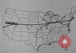 Image of animated map United States USA, 1924, second 55 stock footage video 65675051107