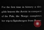 Image of North Pole expedition Spitsbergen Svalbard Norway, 1926, second 34 stock footage video 65675051109