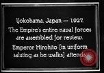 Image of Emperor Hirohito reviews Japanese Navy Yokohama Japan, 1927, second 11 stock footage video 65675051155