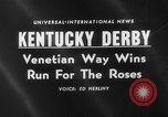 Image of horse Venetian May Kentucky United States USA, 1960, second 2 stock footage video 65675051214