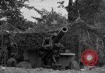 Image of United States 127th Field Artillery Regiment firing Howitzers Saint Lo France, 1944, second 22 stock footage video 65675051311
