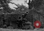 Image of United States 127th Field Artillery Regiment firing Howitzers Saint Lo France, 1944, second 23 stock footage video 65675051311