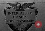 Image of Inter Allied games Paris France, 1919, second 1 stock footage video 65675051364