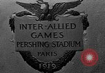 Image of Inter Allied games Paris France, 1919, second 2 stock footage video 65675051364