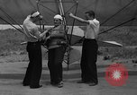 Image of early hang glider flight attempt Palos Verdes California USA, 1936, second 4 stock footage video 65675051384