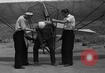 Image of early hang glider flight attempt Palos Verdes California USA, 1936, second 7 stock footage video 65675051384