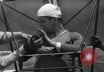 Image of early hang glider flight attempt Palos Verdes California USA, 1936, second 8 stock footage video 65675051384