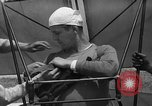 Image of early hang glider flight attempt Palos Verdes California USA, 1936, second 9 stock footage video 65675051384