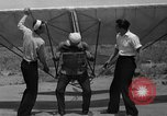 Image of early hang glider flight attempt Palos Verdes California USA, 1936, second 13 stock footage video 65675051384