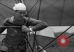 Image of early hang glider flight attempt Palos Verdes California USA, 1936, second 16 stock footage video 65675051384
