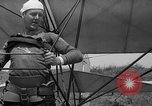 Image of early hang glider flight attempt Palos Verdes California USA, 1936, second 17 stock footage video 65675051384