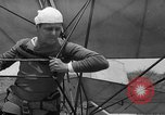 Image of early hang glider flight attempt Palos Verdes California USA, 1936, second 18 stock footage video 65675051384
