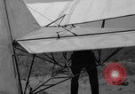 Image of early hang glider flight attempt Palos Verdes California USA, 1936, second 25 stock footage video 65675051384