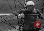 Image of early hang glider flight attempt Palos Verdes California USA, 1936, second 29 stock footage video 65675051384
