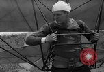 Image of early hang glider flight attempt Palos Verdes California USA, 1936, second 30 stock footage video 65675051384