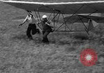 Image of early hang glider flight attempt Palos Verdes California USA, 1936, second 36 stock footage video 65675051384