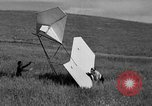 Image of early hang glider flight attempt Palos Verdes California USA, 1936, second 47 stock footage video 65675051384