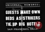 Image of hotel staff San Francisco California USA, 1937, second 1 stock footage video 65675051401
