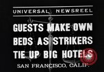 Image of hotel staff San Francisco California USA, 1937, second 4 stock footage video 65675051401