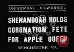 Image of Shenandoah Apple Blossom Festival Winchester Virginia USA, 1937, second 1 stock footage video 65675051405