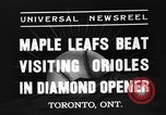 Image of Opening day double-A International Baseball League Toronto Ontario Canada, 1937, second 3 stock footage video 65675051406