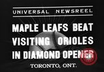 Image of Opening day double-A International Baseball League Toronto Ontario Canada, 1937, second 6 stock footage video 65675051406