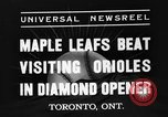 Image of Opening day double-A International Baseball League Toronto Ontario Canada, 1937, second 7 stock footage video 65675051406