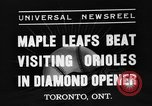 Image of Opening day double-A International Baseball League Toronto Ontario Canada, 1937, second 9 stock footage video 65675051406