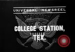 Image of President Roosevelt College Station Texas USA, 1937, second 1 stock footage video 65675051409
