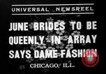 Image of fashion show Chicago Illinois USA, 1937, second 5 stock footage video 65675051413