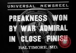 Image of War Admiral winning the Preakness stakes Baltimore Maryland USA, 1937, second 4 stock footage video 65675051417