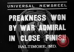 Image of War Admiral winning the Preakness stakes Baltimore Maryland USA, 1937, second 6 stock footage video 65675051417