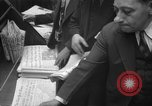 Image of Newspaper headlines tell of Allied invasion New York City USA, 1944, second 20 stock footage video 65675051457
